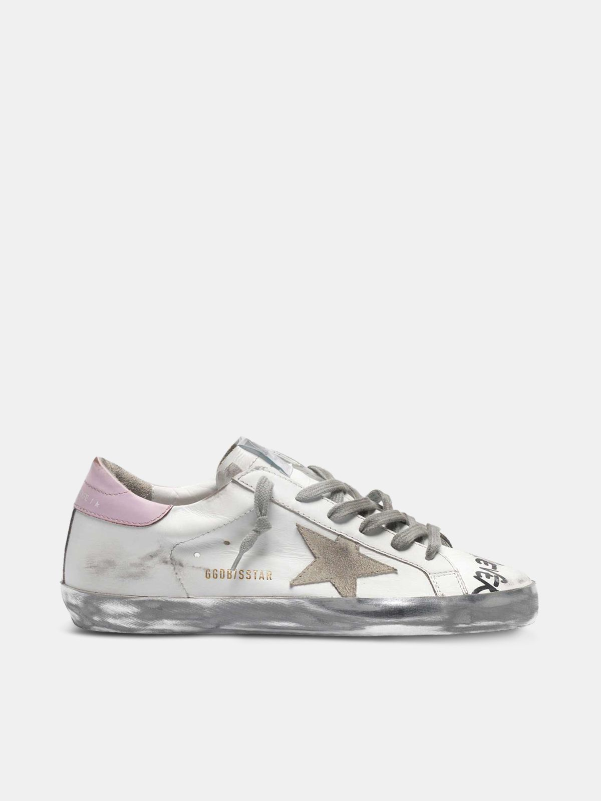 Golden Goose - Super-Star sneakers with handwritten lettering and two-tone heel tabs in