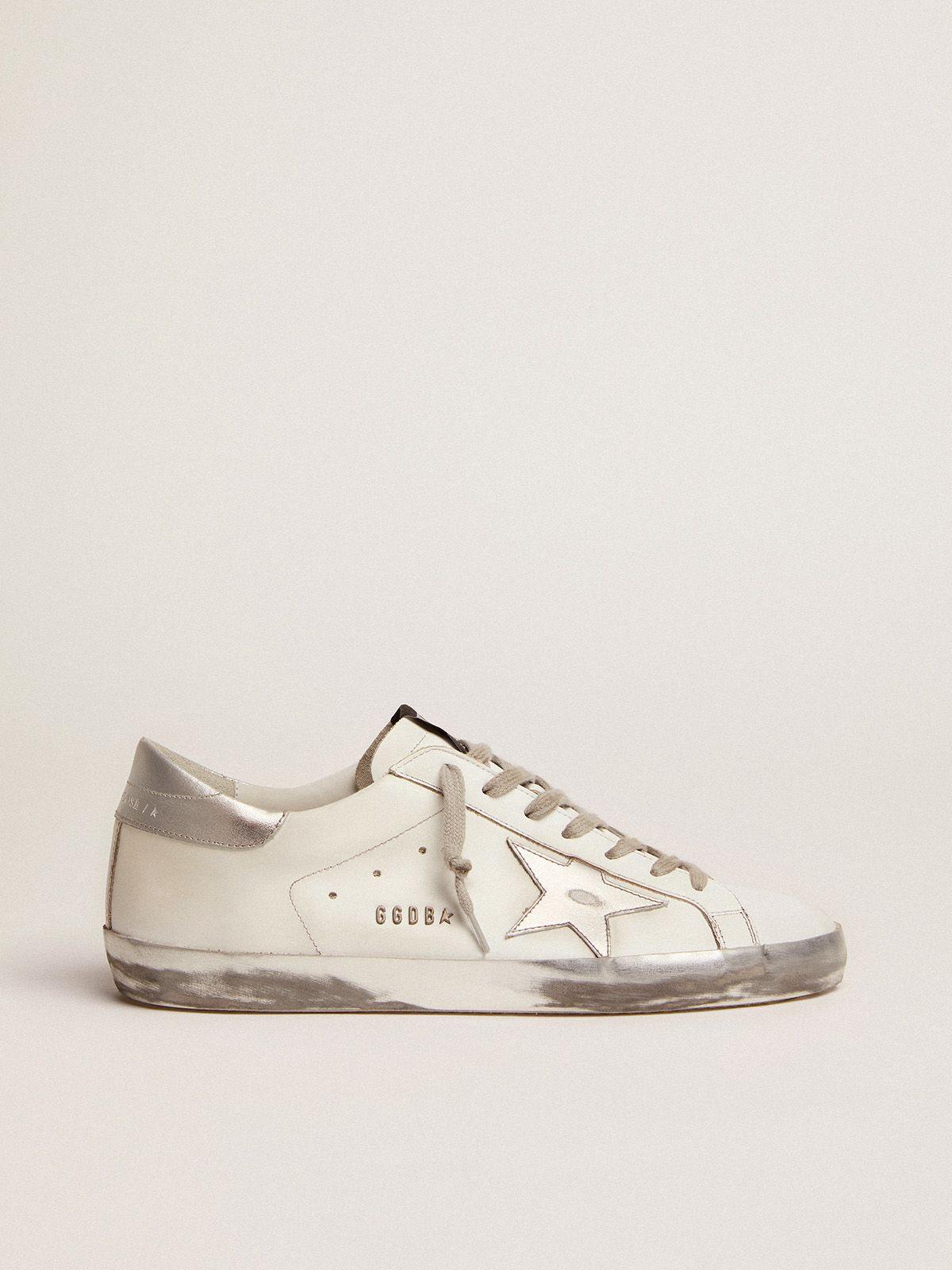 Sneakers Super-Star con stella e talloncino in glitter