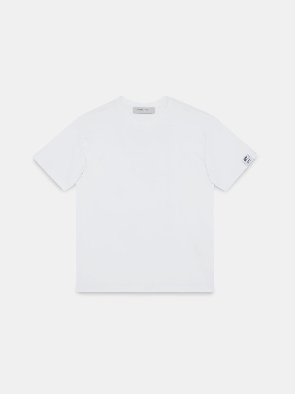 Golden Goose - T-shirt Artù bianca con stampa 'Remake' su retro in