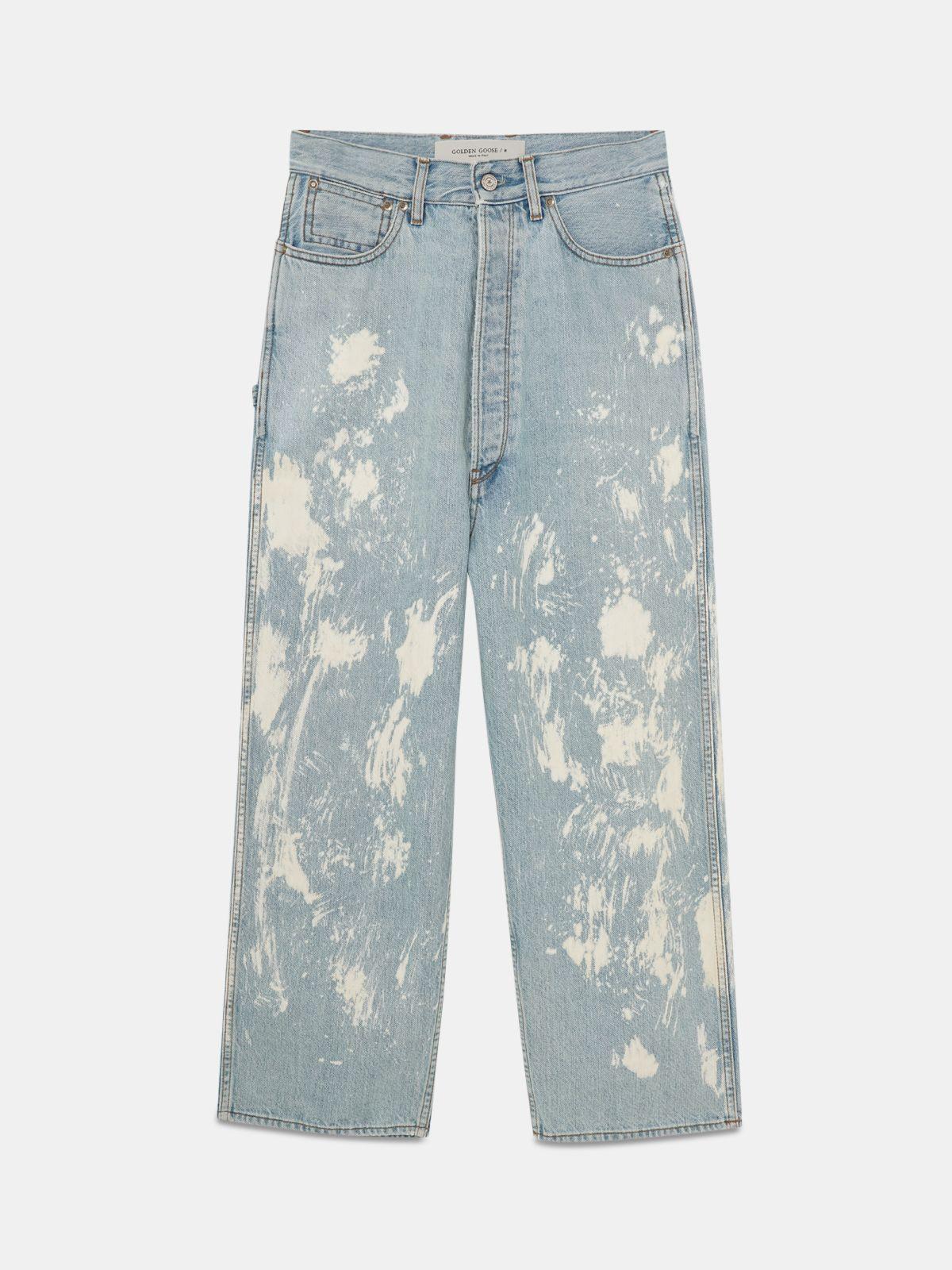 Golden Goose - Jeans Breezy in denim con effetto schiariture in