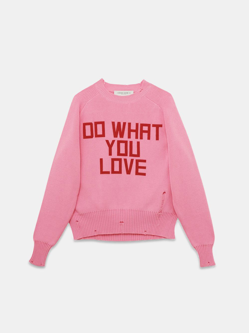 Pink Delilah sweater with print on the front