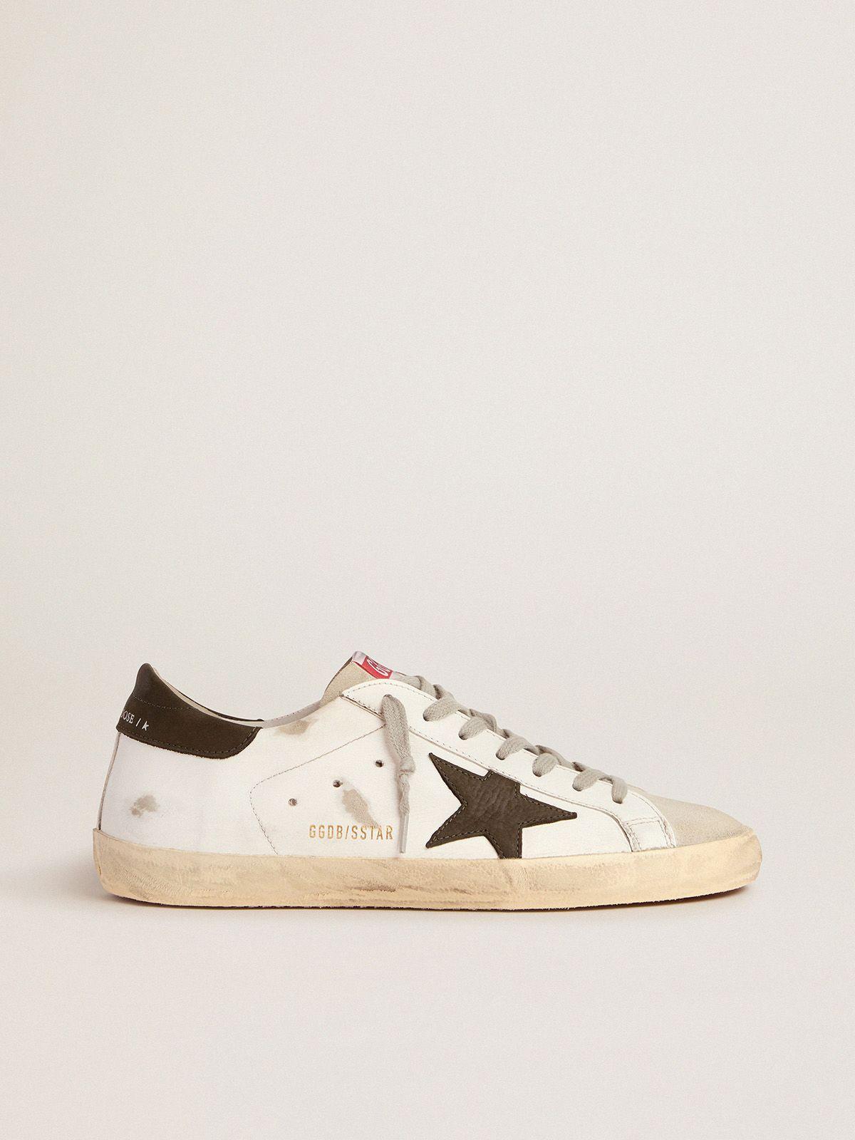 Golden Goose - Sneakers Super-Star con stella e talloncino in nabuk in