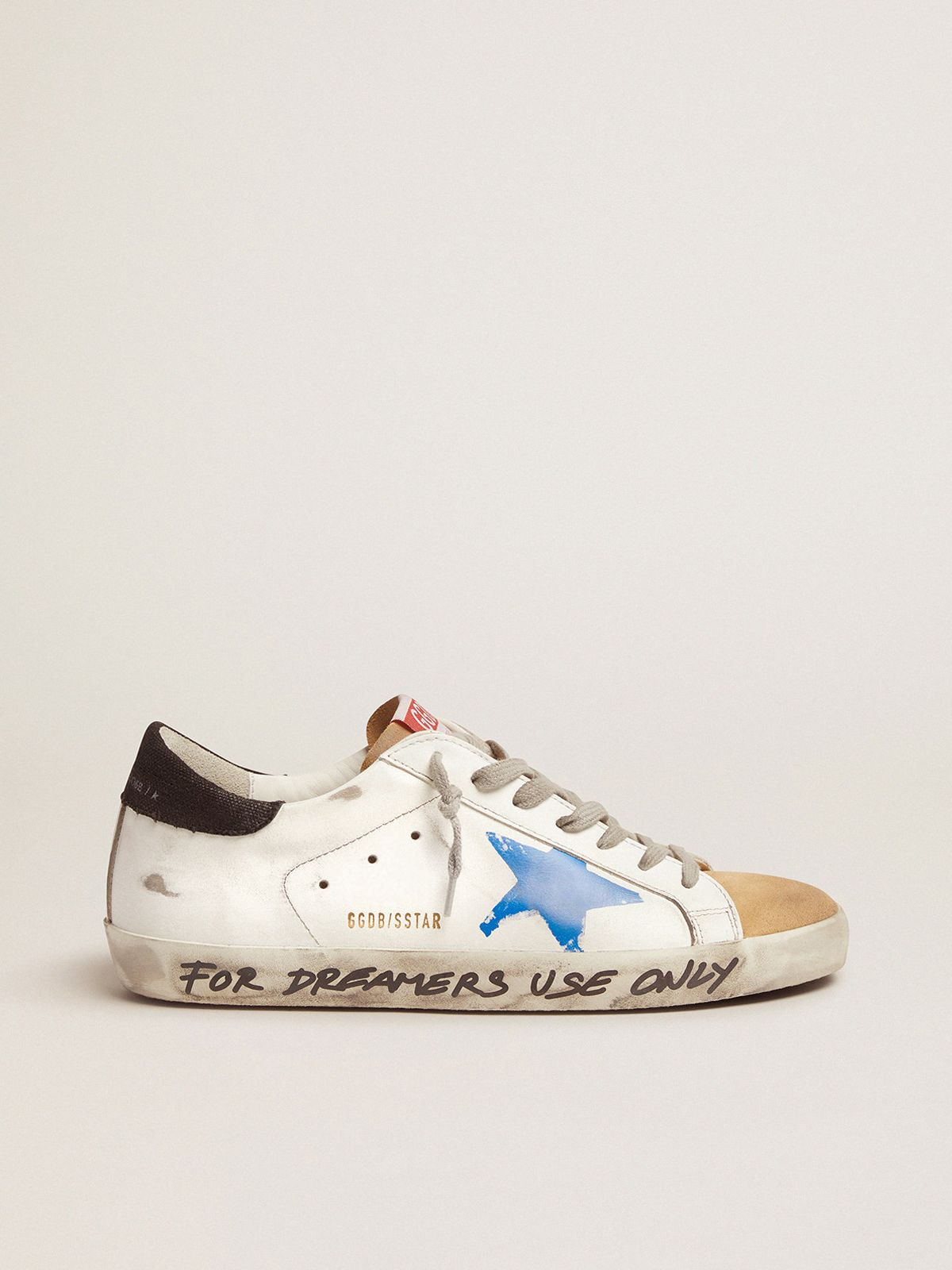 Golden Goose - Super-Star sneakers with printed blue star in
