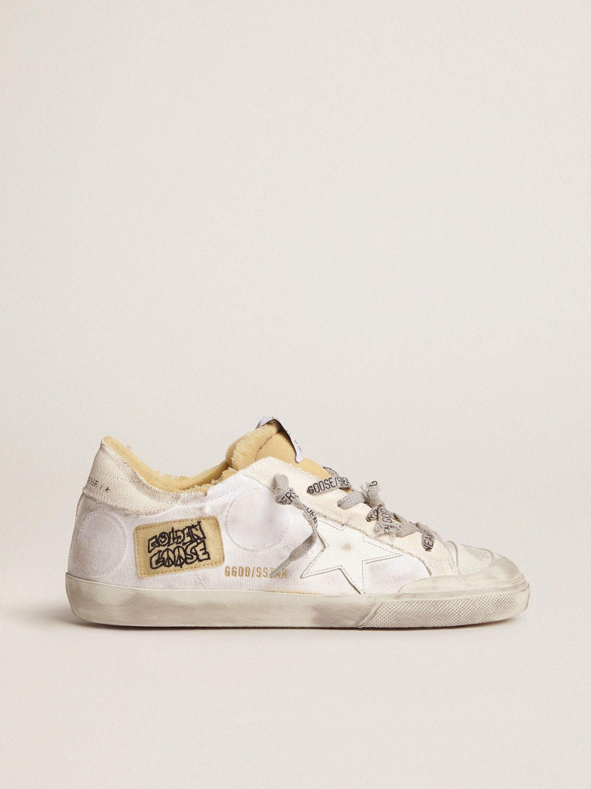 Dream Maker Collection women's canvas Super-Star sneakers with side patch