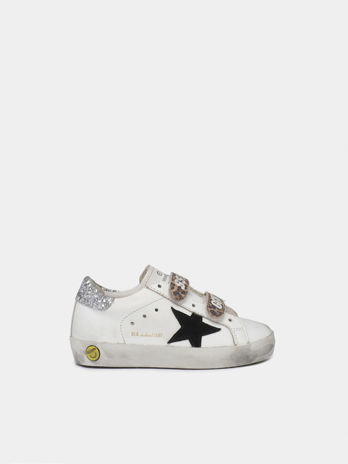 Golden Goose - Sneakers Old School con dettaglio leo e talloncino scintillante in