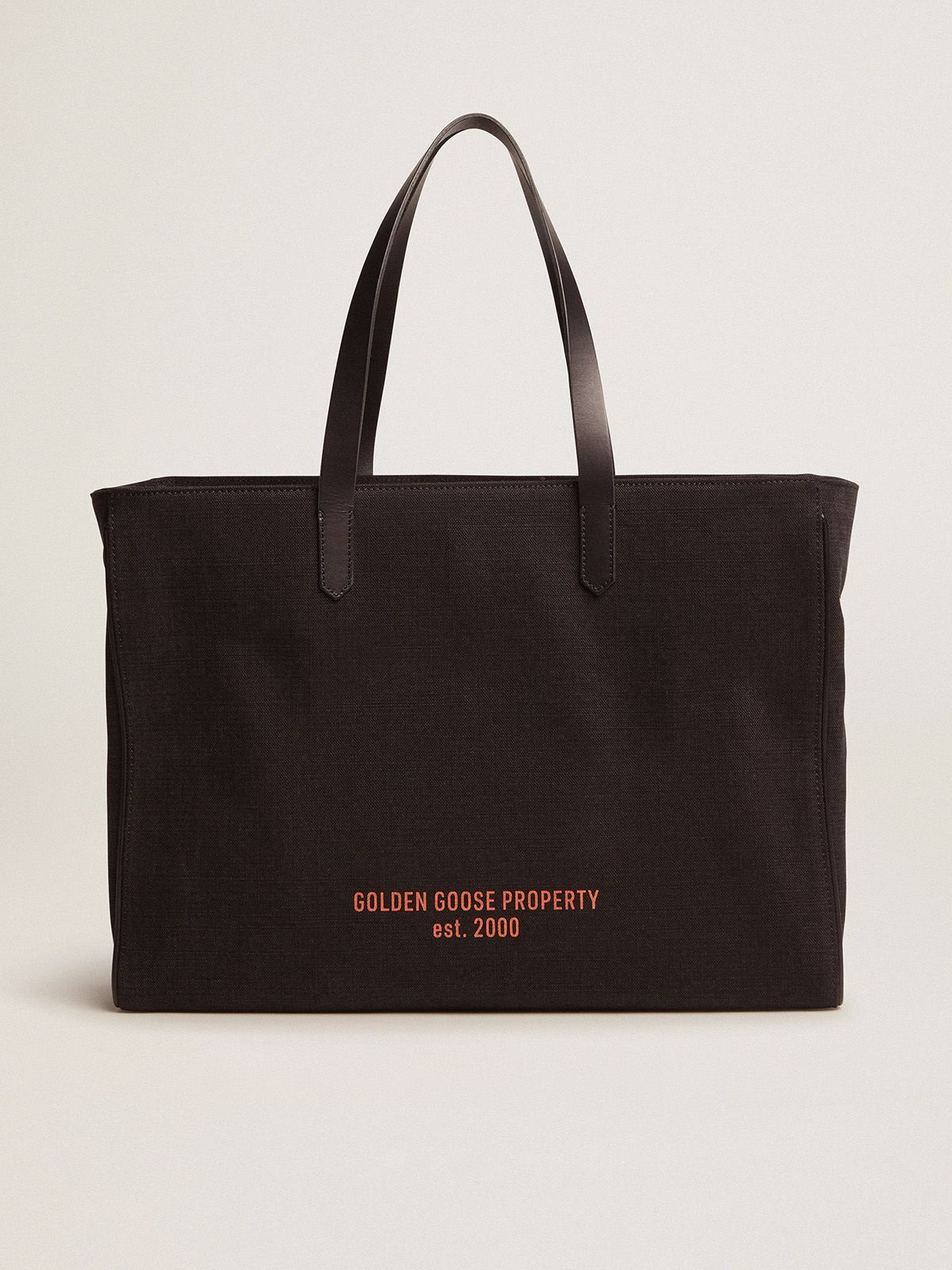 East-West California Bag in black canvas