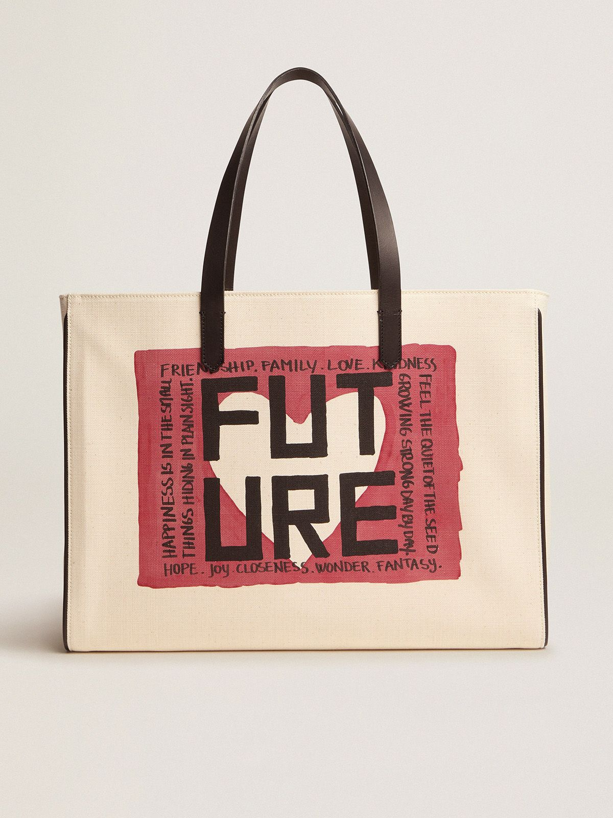 Golden Goose - East-West California Bag with 'Future' print in