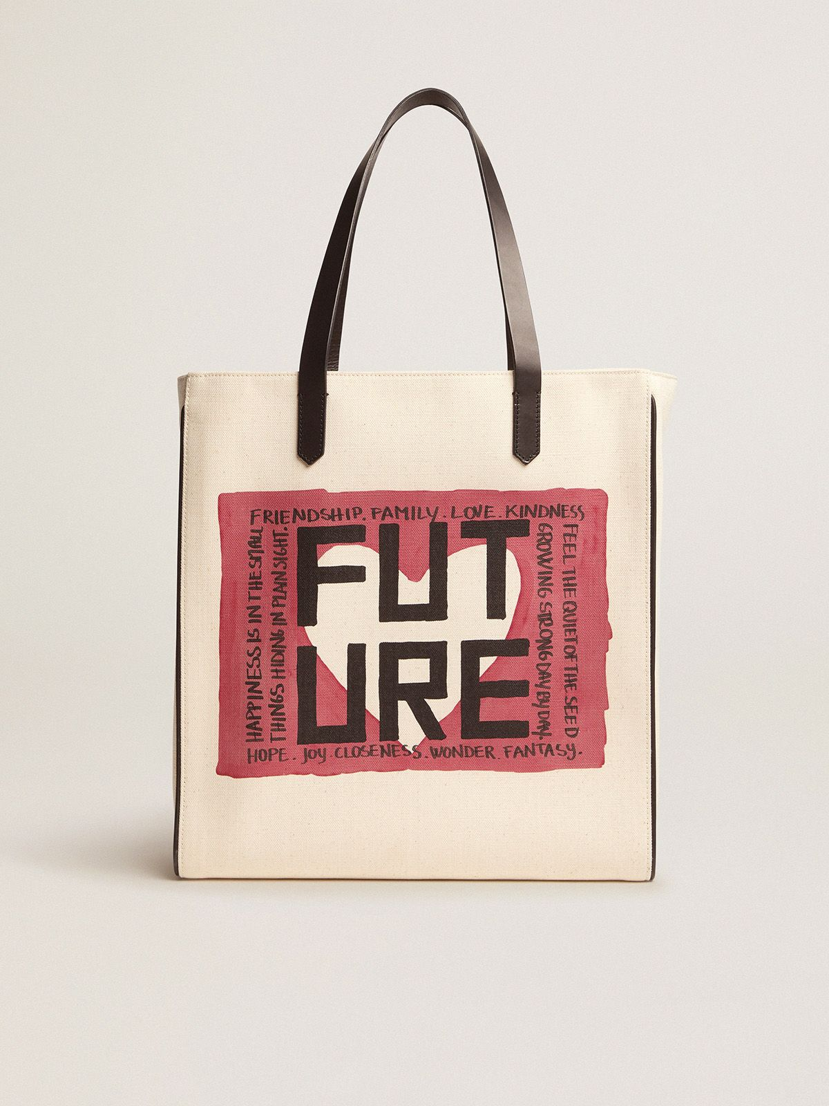 Golden Goose - Borsa California Bag North-South con stampa ''Future'' in